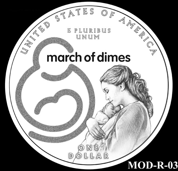 CFA Recommends March of Dimes Silver Dollar Designs