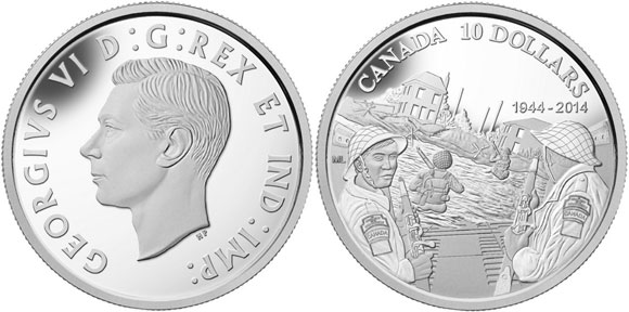 2014 Canada D-Day Coin