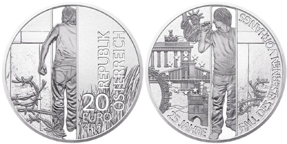 Austria Fall of the Berlin Wall Coin