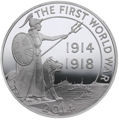 First World War Outbreak 5 oz Silver Coin