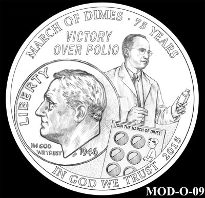 March of Dimes Silver Dollar