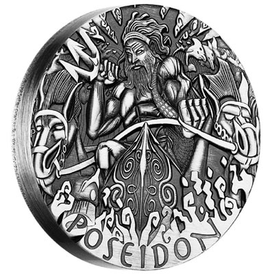 2014 Poseidon 2oz Silver High Relief Coin