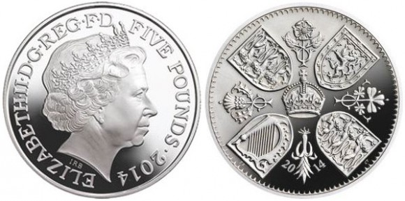 Prince George First Birthday Silver Coin