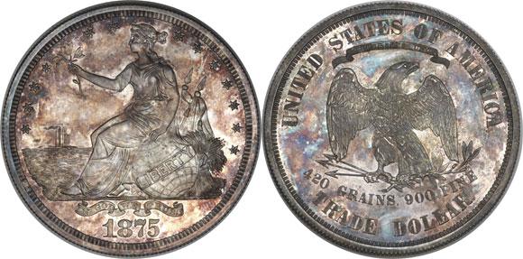 1875 Trade Dollar Pattern