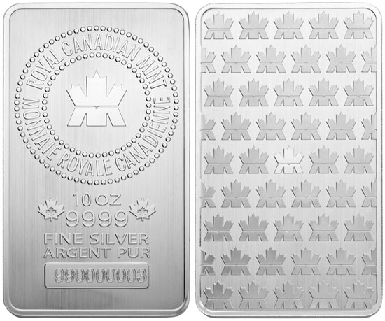 10 oz Silver Bullion Bar