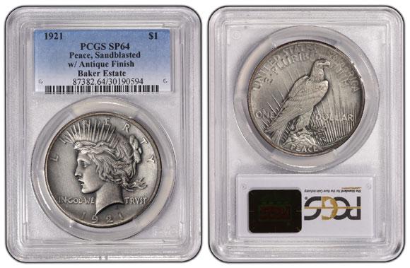 1921-Peace-$1-PCGS-SP64-(La