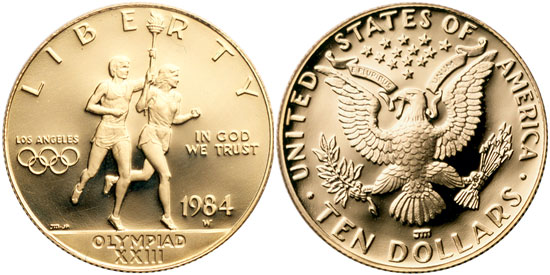 1984 olympic gold coin