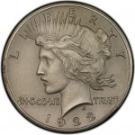 1922 High Relief Peace Dollar on Display at ANA World's Fair of Money