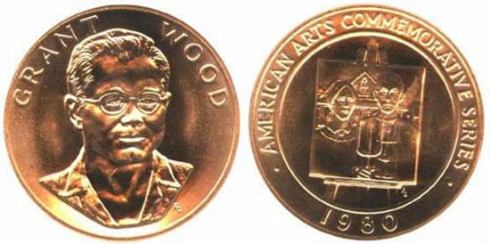 Grant Wood Gold Medallion