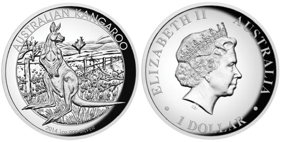 2014 High Relief Silver Kangaroo
