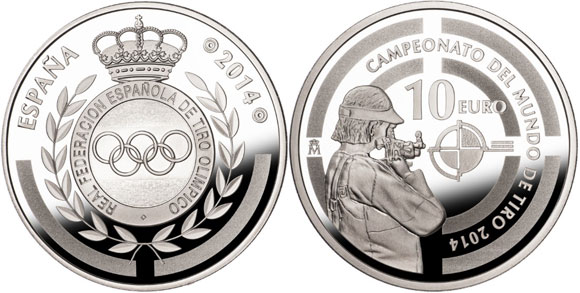 2014 ISSF World Championships Silver Coin