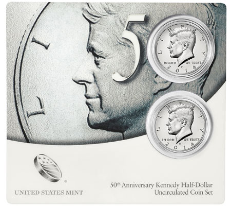 50th Anniversary Kennedy Half Dollar Set