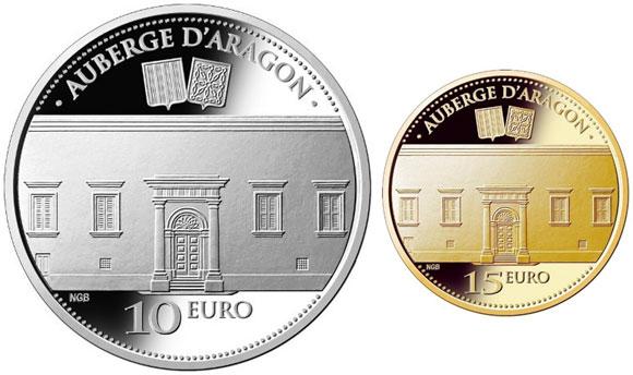 Malta Auberge D'Aragon Coins