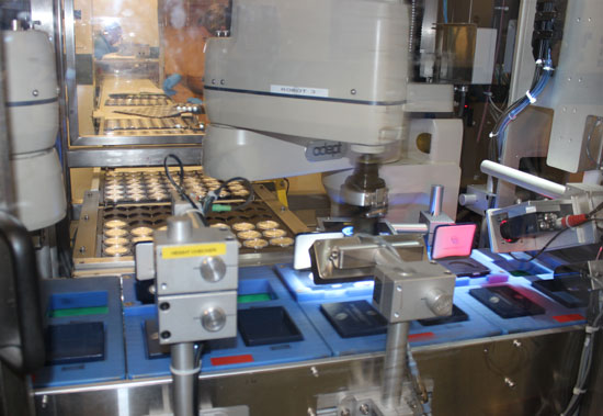 automated packaging of Proof Silver Eagles