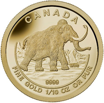 Canada 2014 Wolly Mammoth Gold Coin