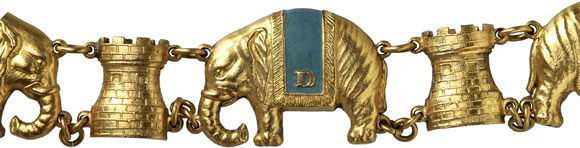Lot 608: DENMARK. Order of the Elephant. Order chain. BWK2 160. Very rare. II Estimate: 30,000,- euros