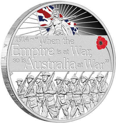 Declaration of War 2014 1oz Silver Proof Coin