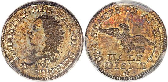 1792 Specimen Half Disme