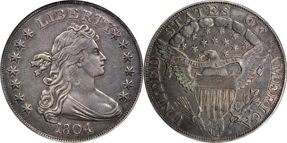 1804 Berg Silver Dollar