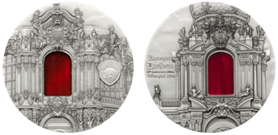 2014 Tiffany Art Baroque Desden Coin