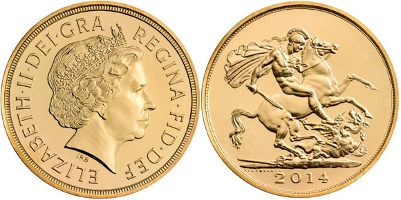 2014 5 Pound Gold Piece