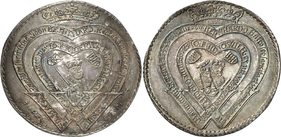 Lot 5092: HORN COLLECTION – SAXE-WEIMAR. Wilhelm (1640-1662). 1/2 reichsthaler 1654, Weimar, on the taking over of the presidency of the University of Jena by Bernhard of Saxe-Jena. Schnee 372. Very rare. First strike. About uncirculated. Estimate: 5,000,- euros