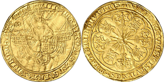 Lot 6630: GREAT BRITAIN. Mary (1553-1558). Ryal (15 shillings) 1553, London. Seaby 2489. Very rare. Very fine. Estimate: 30,000,- euros