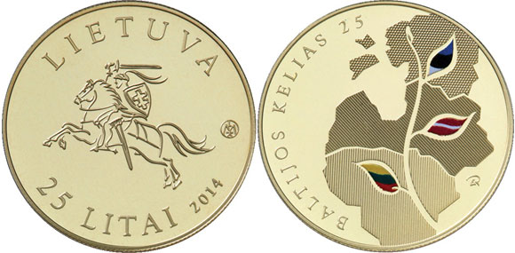 Lithuania Baltic Chain Gold Coin