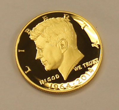 2014-W 24 Karat Gold Proof Half Dollar