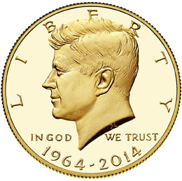 gold Kennedy Half Dollar