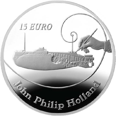 John Philip Holland Silver Coin