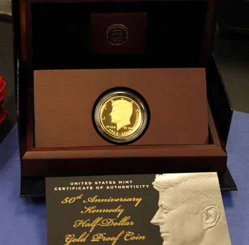 2014-W Gold Proof Kennedy Half Dollar in packaging