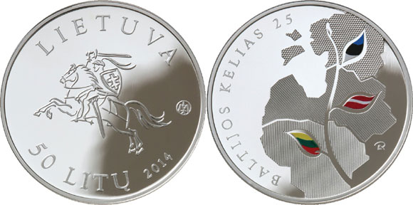 Lithuania Baltic Chain Silver Coin