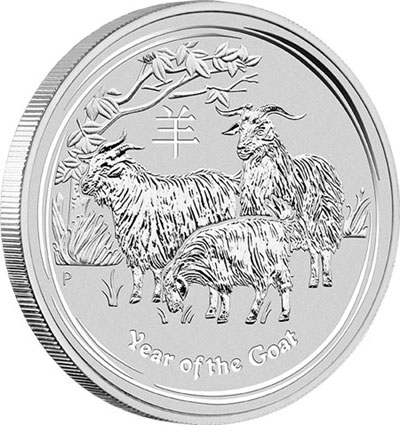 Australian Lunar Year of the Goat Silver Coin