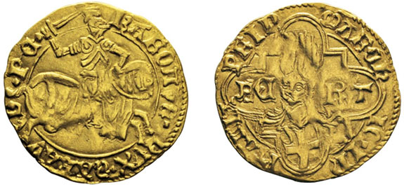 No. 605: ITALY. Savoy. Charles I, 1482-1490. Ducat, Chambery, undated. Friedberg 1026. Very fine. Estimate: 10,000,- euros