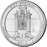 US Mint Sales: Hot Springs Quarters Bags & Rolls Debut