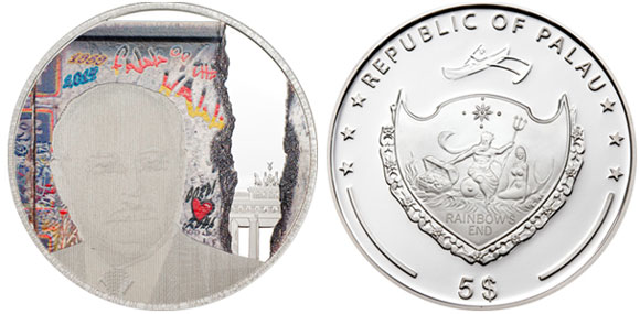 Palau Berlin Wall Coin