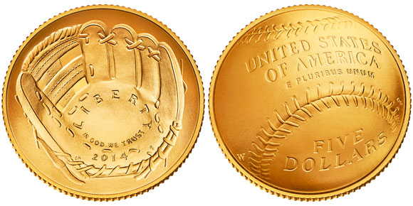 2014 Baseball Hall of Fame Gold Coin