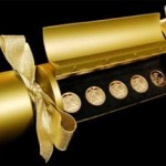 Royal Mint Christmas Cracker with Five Gold Coins