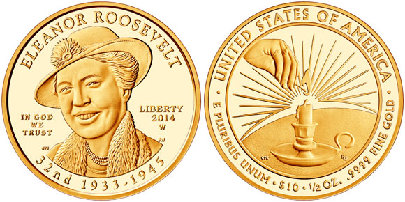 Eleanor Roosevelt Gold Coin