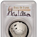 Autographed PCGS Baseball Hall of Fame Coin Insert Labels