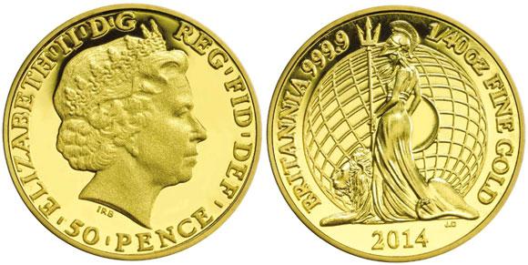 2014 Fortieth Ounce Gold Britannia