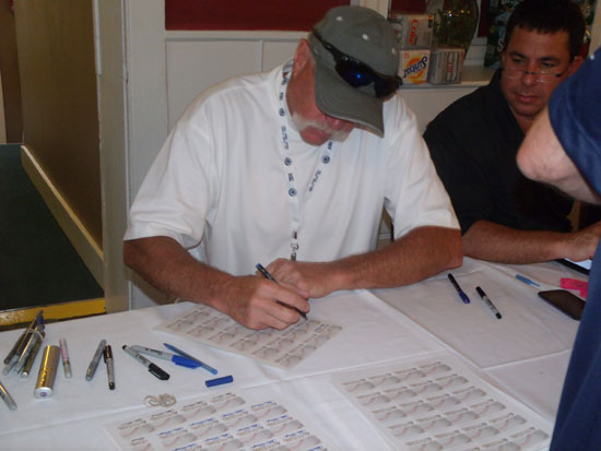 "Baseball Hall of Fame 2008 inductee Rich ""Goose"" Gossage signed autographs for PCGS during the 2014 HOF weekend at Cooperstown, New York."