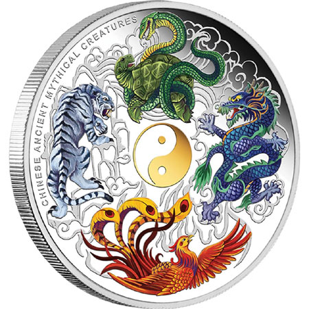 Ancient Chinese Mythical Creatures Silver Proof Coin