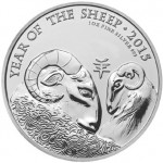 2015 Year of the Sheep Silver Coin