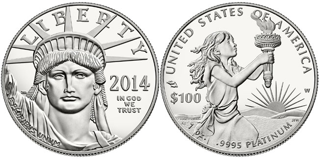2014 American Platinum Eagle Proof Coin