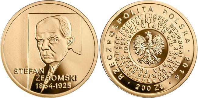 Stefan-Zeromski-gold-coin