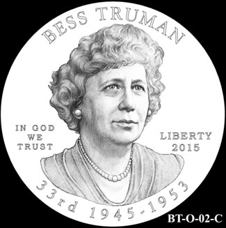Bess Truman First Spouse Gold Coin