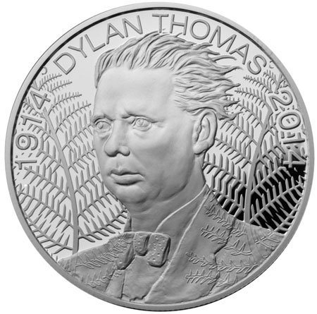 New Coins Celebrate 100th Anniversary of the Birth of Dylan Thomas