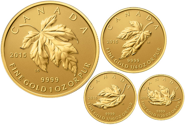 2015 Gold And Silver Fractional Maple Leaf Sets Include